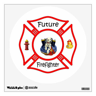 Maltés rojo del bombero futuro vinilo adhesivo