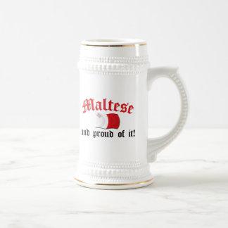 Maltés y orgulloso de él tazas de café