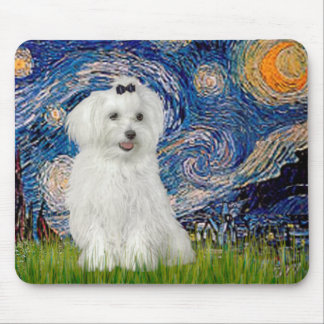 MALTESE 10 - Starry Night Mouse Pad