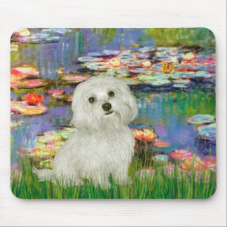 Maltese 11 - Lilies 2 Mouse Pad