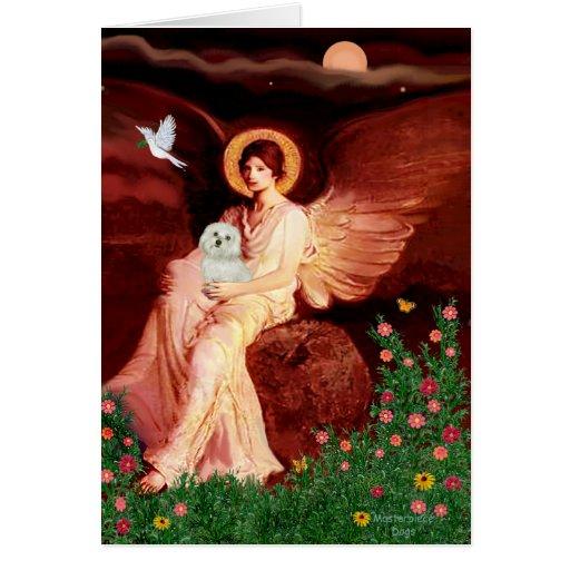Maltese 11 - Seated Angel Card
