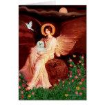 Maltese 11 - Seated Angel Greeting Card
