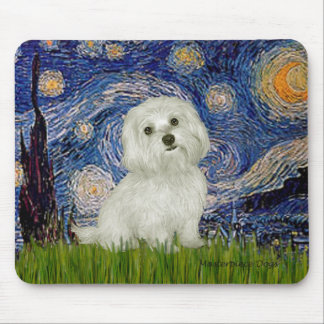 Maltese 11 - Starry Night Mouse Pad