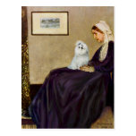 Maltese 6 - Whistlers Mother Postcard