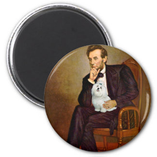 Maltese 7 - Lincoln 2 Inch Round Magnet