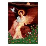 Maltese 7 - Seated Angel Card
