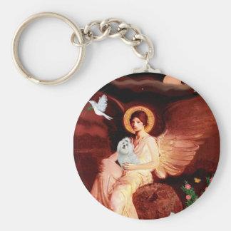 Maltese 7 - Seated Angel Keychain
