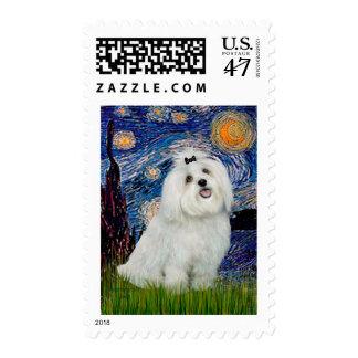MALTESE 7- Starry Night (Vert.) Postage