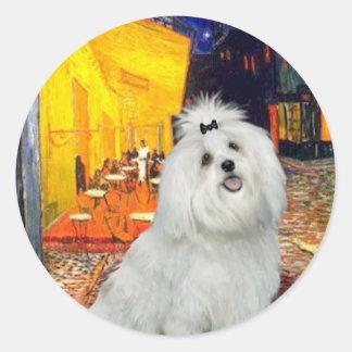 Maltese 7 - Terrace Cafe Classic Round Sticker