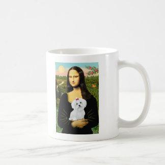 Maltese 8 pup - Mona Lisa Coffee Mug