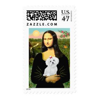 Maltese 8 pup - Mona Lisa Postage