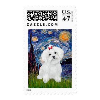 Maltese 8 pup - Starry Night Postage