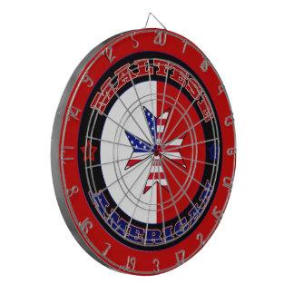 Maltese American Cross Ensign Dart Board