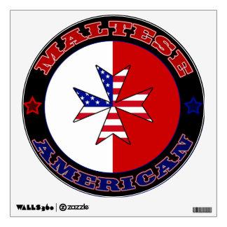 Maltese American Cross Ensign Wall Decal