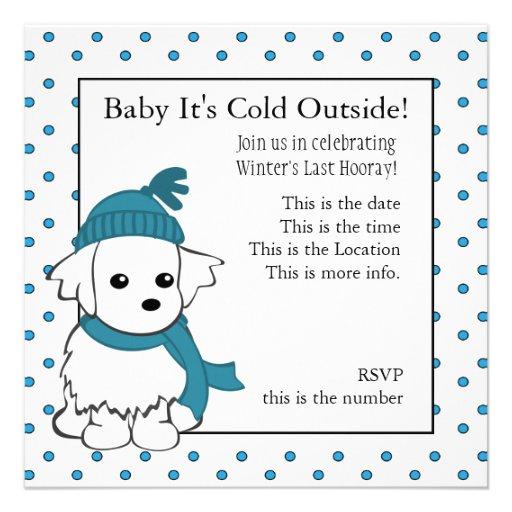 Maltese Baby Invite