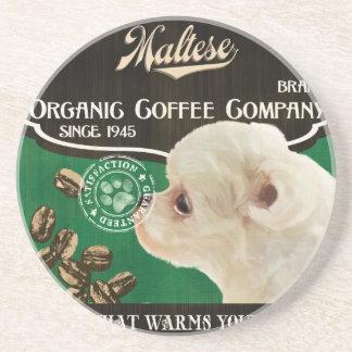 Maltese Brand – Organic Coffee Company Drink Coaster