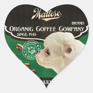 Maltese Brand – Organic Coffee Company Heart Sticker