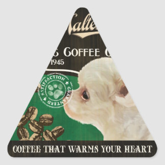 Maltese Brand – Organic Coffee Company Triangle Sticker