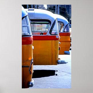 Maltese Buses Poster