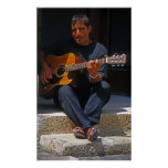Maltese Busker with guitar Posters