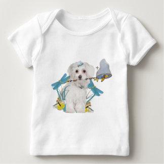 Maltese Butterfly Catcher Apparel Baby T-Shirt