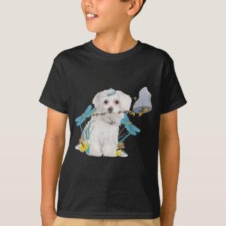 Maltese Butterfly Catcher Apparel T-Shirt