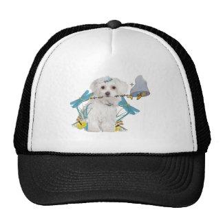 Maltese Butterfly Catcher Apparel Trucker Hat