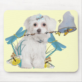 Maltese Butterfly Catcher Gifts Mouse Pad