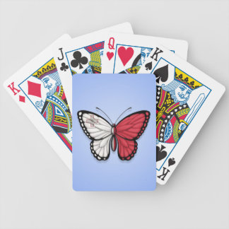 Maltese Butterfly Flag on Blue Bicycle Playing Cards