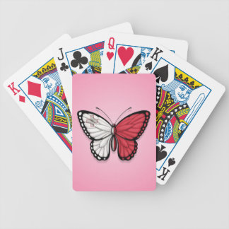 Maltese Butterfly Flag on Pink Bicycle Card Decks