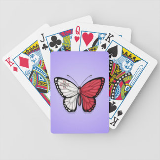 Maltese Butterfly Flag on Purple Bicycle Card Deck