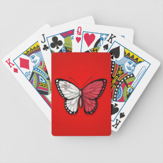 Maltese Butterfly Flag on Red Bicycle Playing Cards