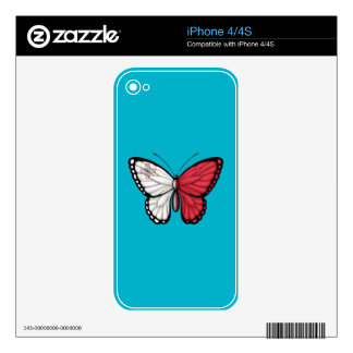 Maltese Butterfly Flag Decals For iPhone 4S