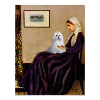 Maltese (C) - Whistlers Mother Poster