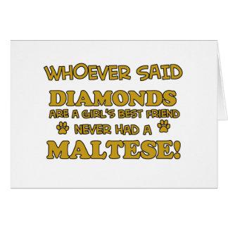 Maltese Cat designs Card