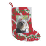 Maltese Christmas Small Christmas Stocking