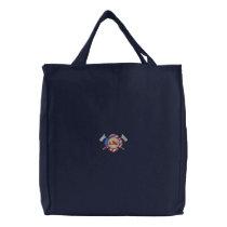 Maltese Cross and Flag Embroidered Tote Bag