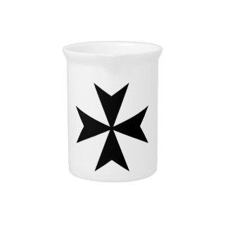 Maltese Cross Beverage Pitcher