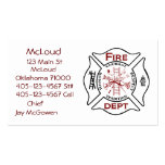 Maltese Cross Bussiness Cards Fire Fighters Double-Sided Standard Business Cards (Pack Of 100)