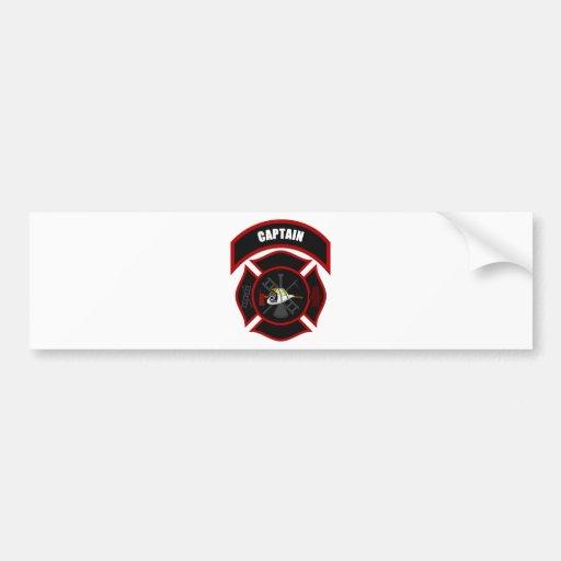 Maltese Cross - Captain (White Helmet) Bumper Sticker
