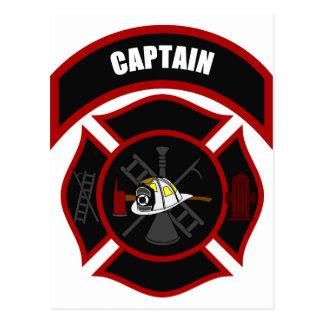 Maltese Cross - Captain (White Helmet) Postcard