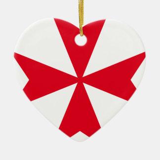 maltese cross ceramic ornament