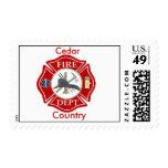 Maltese Cross Fire Dept Stamp