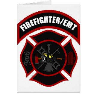 Maltese Cross - Firefighter/EMT Greeting Card