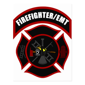 Maltese Cross - Firefighter/EMT Postcard