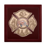 Maltese Cross Firefighter Jewelry Box