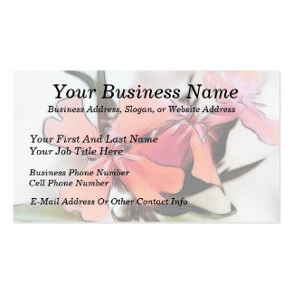Maltese Cross Flowers Abstract Business Card