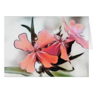 Maltese Cross Flowers Abstract Card