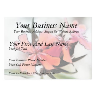 Maltese Cross Flowers Abstract Large Business Card