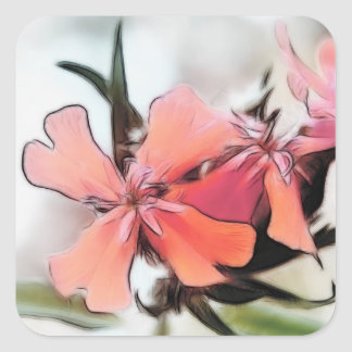 Maltese Cross Flowers Abstract Square Sticker